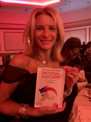 Louise Goddard - England Athletics Volunteer of the Year