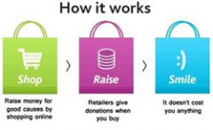 Shopping on line - while raising club funds......